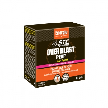 Overblast Perf' - Energie et coup de fouet - Goût Fruits Rouges - 10 gels