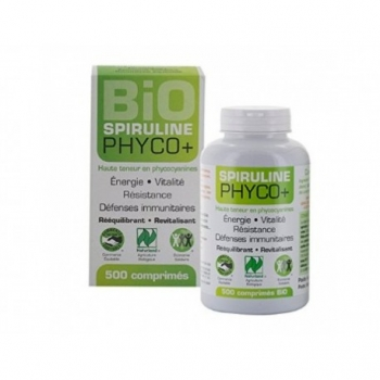 Spiruline Phyco+ bio - LT Labo - 100% Pure - 500 comprimés