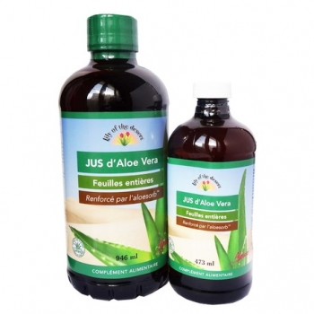 Jus d'Aloe Vera - Feuilles Entières - 946ml+473ml - Lily of the Desert