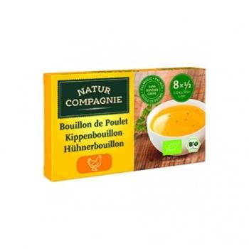 Bouillon de Poulet en cube 88g-Natur Compagnie