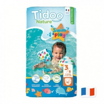 Couches Swim & Play 3S/4-9kg - 12 pièces - Tidoo Nature