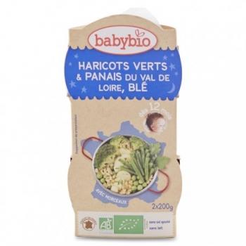 Haricot Verts de Vendée, Panais et Blé - 2x200gr - Babybio