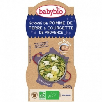 Ecrasé de Pomme de Terre & Courgette de Provence - 2x200gr - Babybio