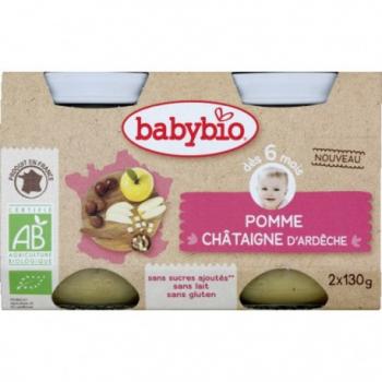 Pomme & Châtaigne d'Ardèche - 2x130gr - Babybio