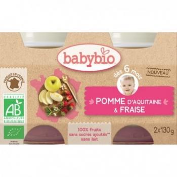 Pomme d'Aquitaine & Fraise - 2x130gr - Babybio