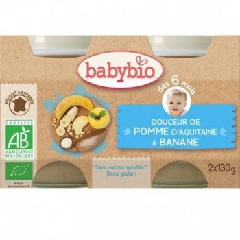 Douceur Pomme d'Aquitaine & Banane - 2x130gr - Babybio