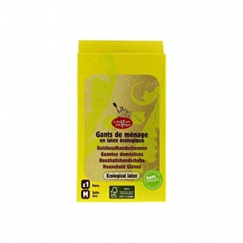 Gants de Ménage en Latex Ecologique - 1 Paire - La Droguerie Ecologique
