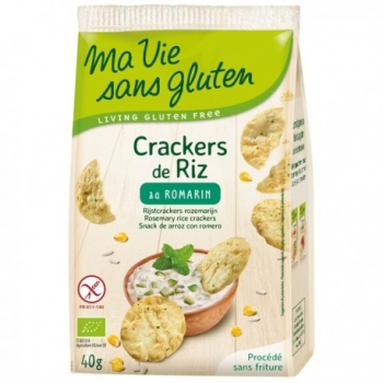Crakers de Riz au Romarin - 40gr - Ma Vie Sans Gluten
