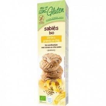Sablé Bio Citron & Graines de Chia - 150gr - Ma Vie Sans Gluten