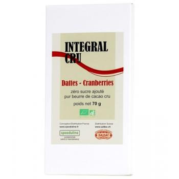 Intégral cru Bio dattes cranberries