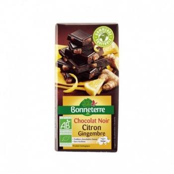 Chocolat Noir Citron Gingembre 100g -Bonneterre