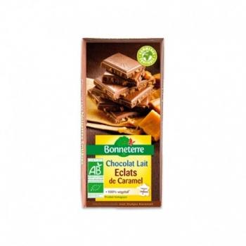 Chocolat Lait Eclats de Caramel 100g -Bonneterre