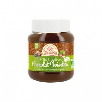 Ma Pâte à tartiner Chocolat Noisettes Sans Gluten - 350g - Mamie Bio