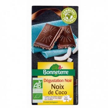 Chocolat Noir Noix de Coco 85g -Bonneterre