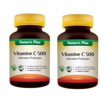 Lot de 2 Boites de Vitamine C 500 - Action prolongée - 2x60 Comprimés - Nature's Plus