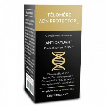 Télomère ADN Protector© - Distribiocom - 60 gélules
