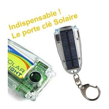 Porte-clés lampe solaire