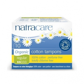Cotton Tampons Regular - 10 pièces - Natracare