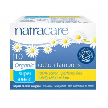 Cotton Tampons Super - 10 pièces - Natracare