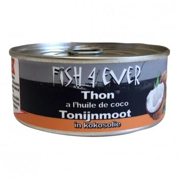 Miettes de thon Listao à l'huile de coco 160g - FISH4EVER