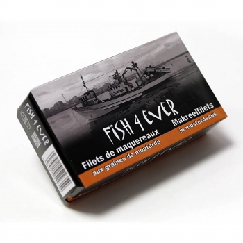 Filets de Maquereaux Sauce Moutarde 125g - FISH4EVER