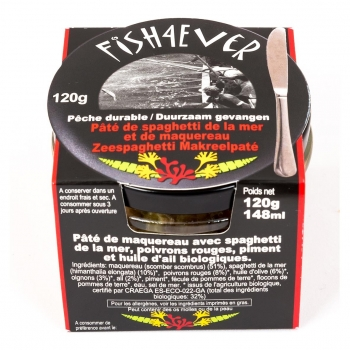 Pâté Maquereaux - Spaghettis de Mer 120g - FISH4EVER