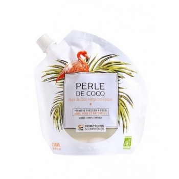COMPTOIRS ET COMPAGNIES - Perle de coco - Huile de coco vierge bio - Visage, Cheveux, Corps 250ml