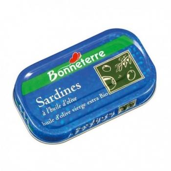 Sardines à l'Huile d'Olive Vierge Extra Bio - 46gr - Bonneterre