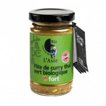 Pâte de Curry Thaï Vert Biologique - 100gr - Autour du Riz