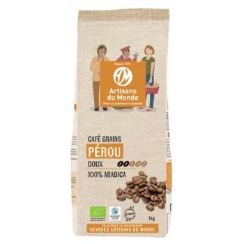 Café bio en grains - 1kg - Perou