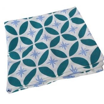 Drap lit 2 personnes-Bleu-Coton bio ( 240x300 cm )