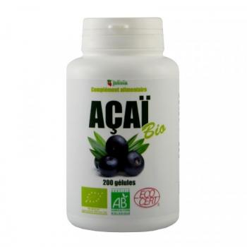 Açaï Bio - 200 gélules végétales de 300 mg