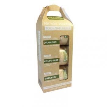 Ma Box Minceur Eco Responsable - Draîne et brûle graisses - 3 x 120 gélules