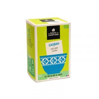Thé vert menthe gunpowder bio infusettes Casbah