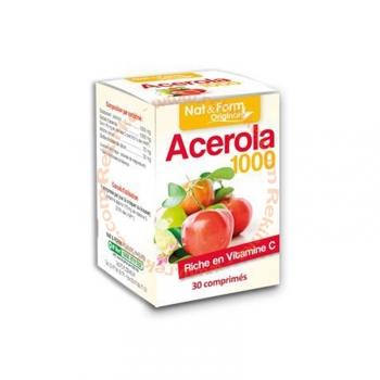 Acérola 1000 - Riche en vitamine C - 30 comprimés