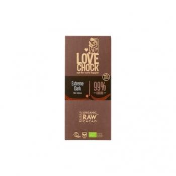 Tablette de Chocolat Cru Noir Intense 99% - 70g - Lovechock