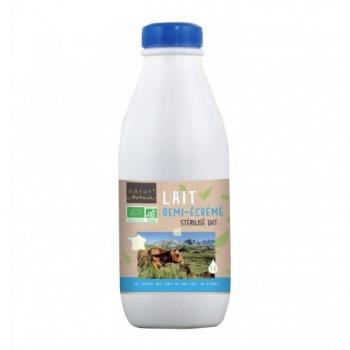 Lait Demi-Ecrémé Stérilisé UHT Bio Bouteille - 1L - Natur'Avenir