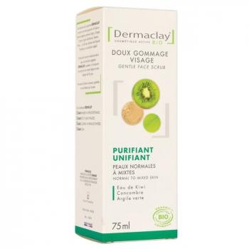 DERMACLAY - Gommage Visage bio Purifiant Peaux Mixtes 75ml