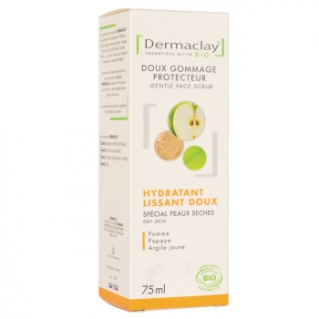 DERMACLAY - Gommage Visage bio Hydratant Peaux sensibles 75ml