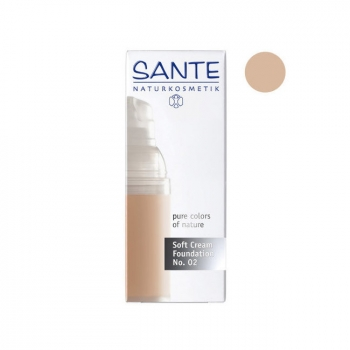 SANTE NATURKOSMETIK - Fond de Teint Crème Light Beige n°02 Bio 30ml
