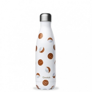 Bouteille Nomade Isotherme - Blanc & Coco - 500ml - Qwetch