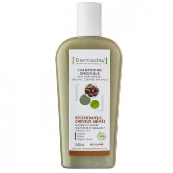 DERMACLAY - Shampoing Traitant Bio Capilargil Régénérateur Cheveux Abîmés 250ml