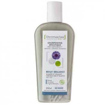 DERMACLAY - Shampoing Bio Capilargil Reflet et Brillance - Cheveux gris 250ml