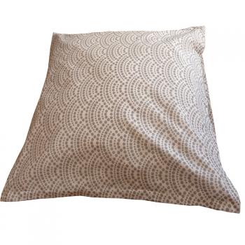Lot de 2 taies d'oreiller - coton bio - Coloris gris - Collection BioChrome ( 65X65 cm )
