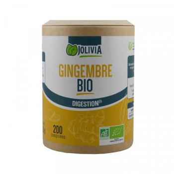 Gingembre Bio - 200 comprimés de 400 mg