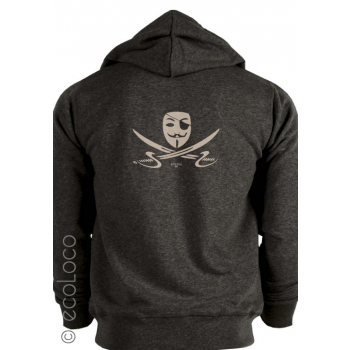 Sweat shirt bio PIRATE activiste fair wear creation France artisan