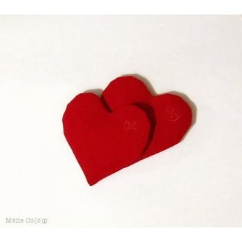 Lot de 2 bouillottes sèches de poche cœur rouge