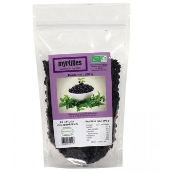 Myrtilles sauvages séchées Bio - Sachet 200 g