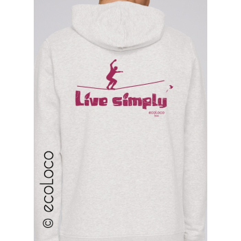 Sweat Shirt bio slackline Ghandi France artisan LIVE SIMPLY