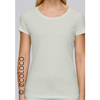 T shirt bio basique mode éthique vegan équitable vert clair